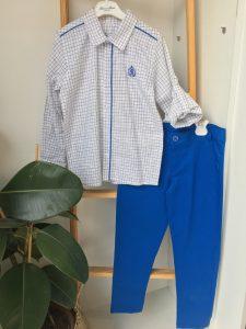 Elektrik Mavi Pantolon Takım