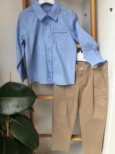 Mavi-Bej Binici Pantolon Takım