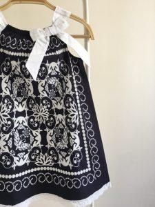 Lacivert Fiyonk Elbise