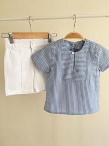 Çizgili Gömlek Takım